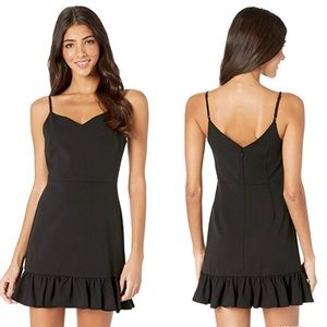 1. State spaghetti strap ruffle hem dress black 6